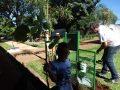 Implantacao de Lixeira e plantio de mudas - Creche e Pre - Escola Izolina Zancope Murari